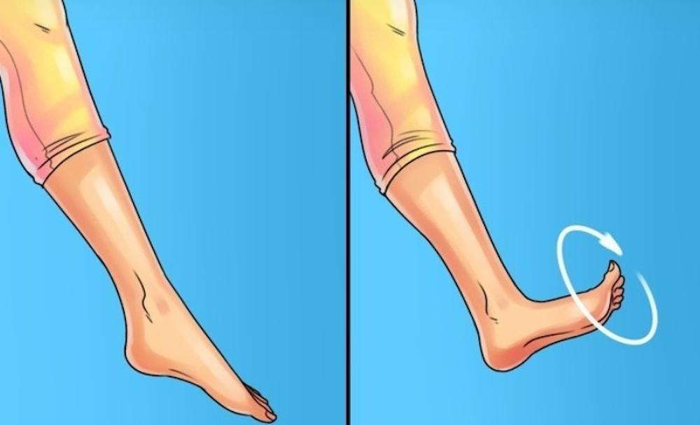 rotire gleznă ercitiu picioare